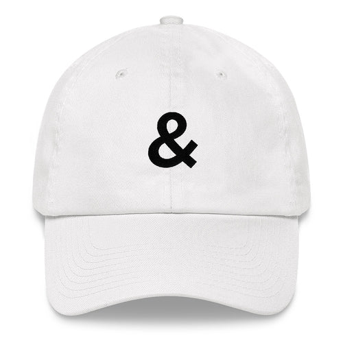 Ampersand | Hat with Black Embroidery