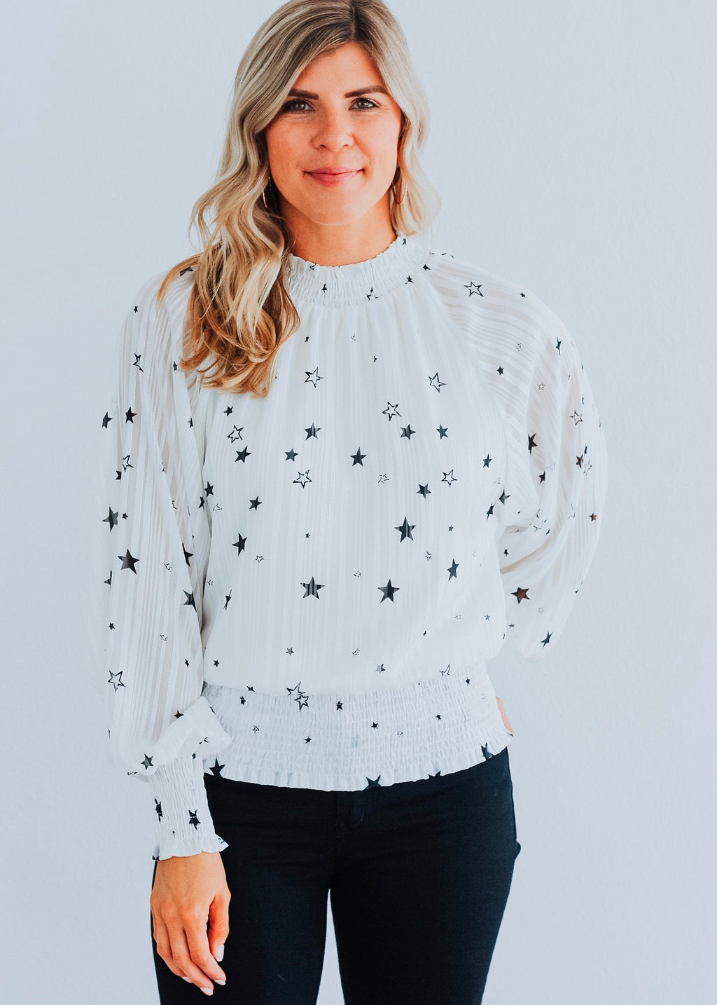 Star Struck Smocked Top
