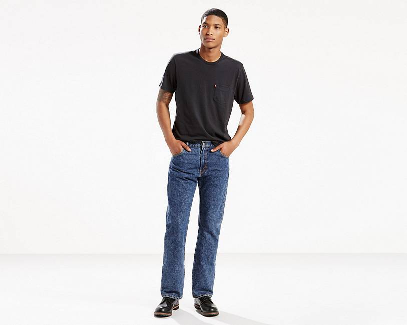 Levi's Men's 517 Boot Cut Jeans, Dark Stonewash