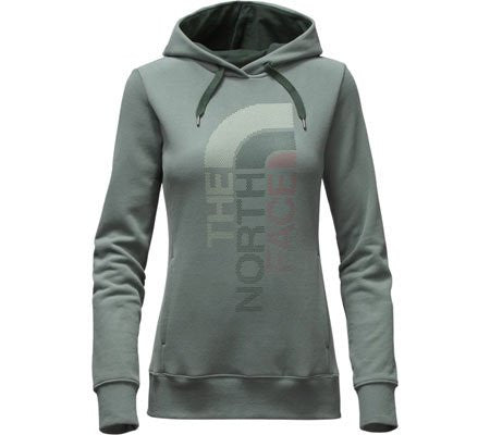 The North Face Women's Trivert Logo Pullover Hoodie Balsam Green/Darkest Spruce Multi CH2WLDB