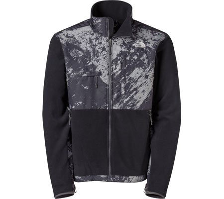 The North Face Men's Denali Hoodie Recycled Black/Asphalt Grey Brush AMYMEAX