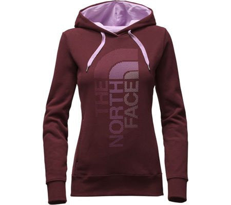The North Face Women's Trivert Logo Pullover Hoodie Deep Garnet Red/Lupine Multi CH2WLFG