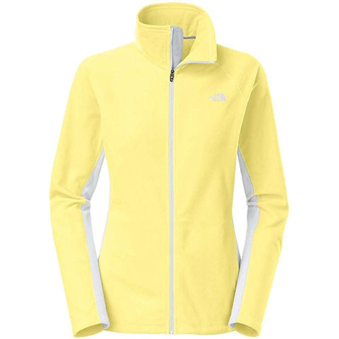 The North Face Women's Tech 100 Full Zip Jacket Hamachi Yellow / High Rise Grey C833W1V