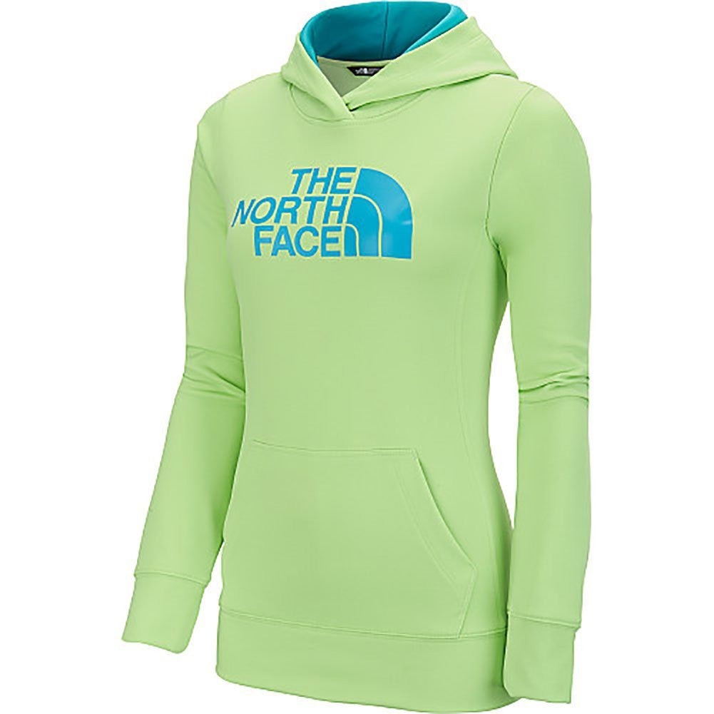 The North Face Women's Fave Half Dome Pullover Hoodie Budding Green/Bluebird A6S1GBQ