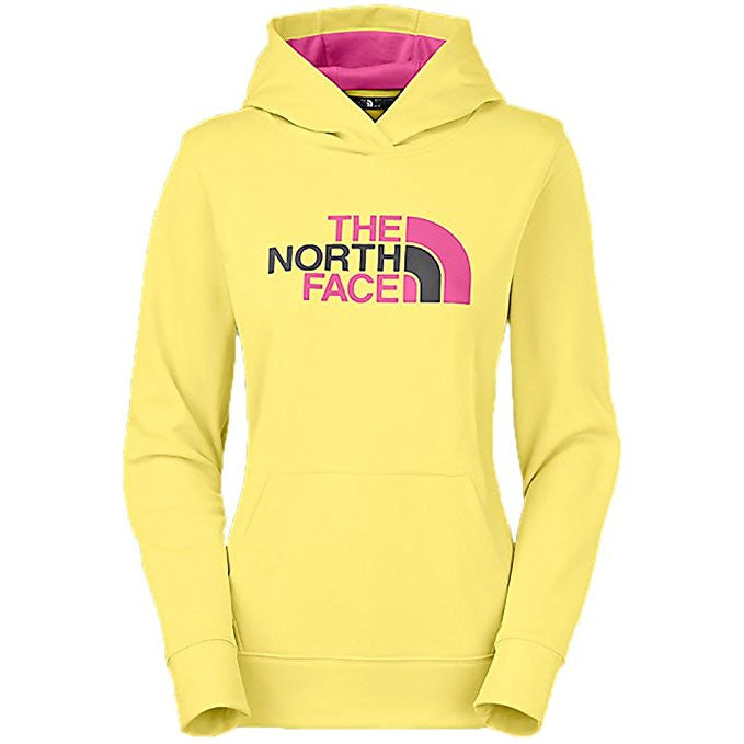 The North Face Women's Fave Half Dome Hoodie Yellow/Raspberry A6S1GCA