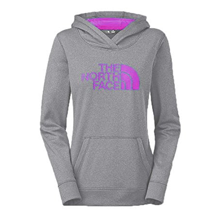 The North Face Women's Fave Half Dome Pullover Hoodie Light Grey/Fuchsia Pink A6S1GDH