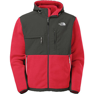 The North Face Denali Hoodie Mens Recycled TNF Red/Asphalt Grey AMYMCCF