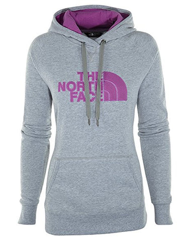 The North Face Women Avalon Pullover Hoodie Light Grey, Sweet Violet CZZ4GAT