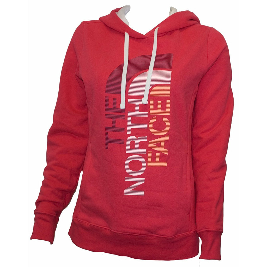 The North Face Women's Trivert Pullover Hoodie Rose Red/TNF White CZW4F0G