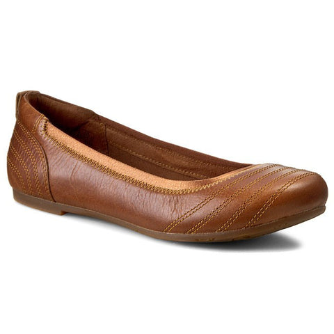 Timberland Women's Ek Ellsworth Med Brown Ballerina Flats 8423B