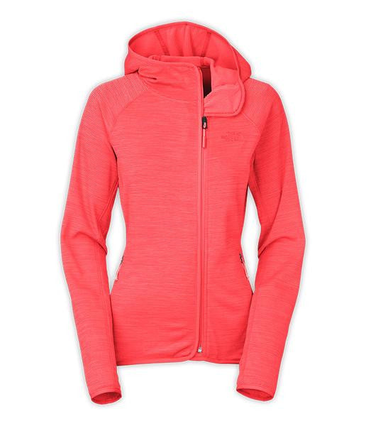 The North Face Women's Arcata Full Zip Hoodie Tropical Coral Stria CUU0GDW
