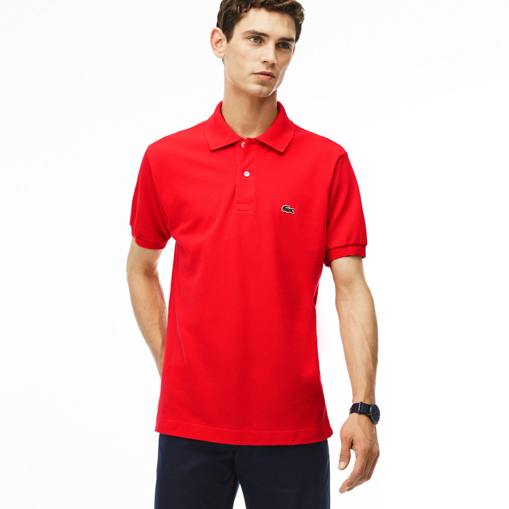 Lacoste Mens Classic Pique Polo Shirt L1212 Jean And Top Designers