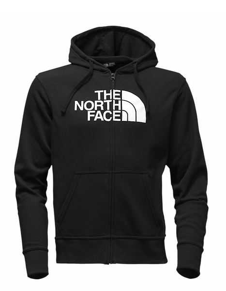 The North Face Men's Surgent Lightweight Half Dome Full‑Zip Black/White L CP89KY4