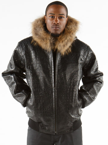 Pelle Pelle Basic Jacket - Black Alligator
