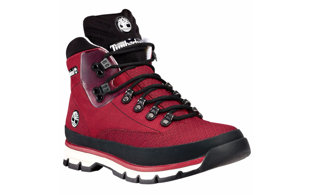 Timberland Men's Jacquard Euro Hiker Red Boots A1362