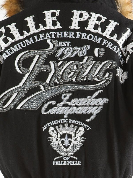 Pelle Pelle Exotic Jacket - Black/Chrome