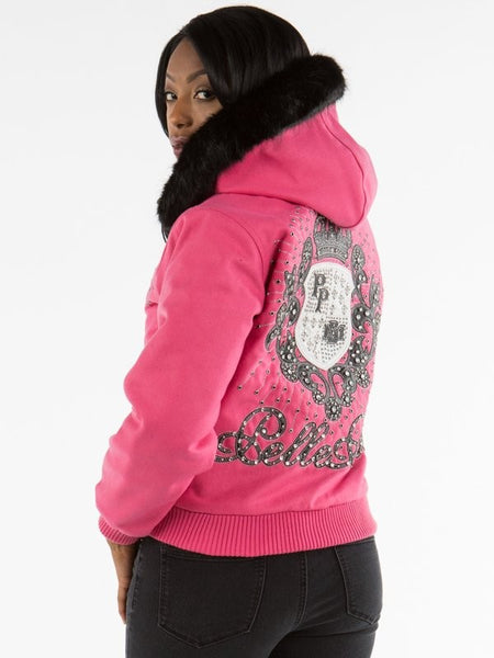 Pelle Pelle Hooded Crest Jacket - Bright Pink