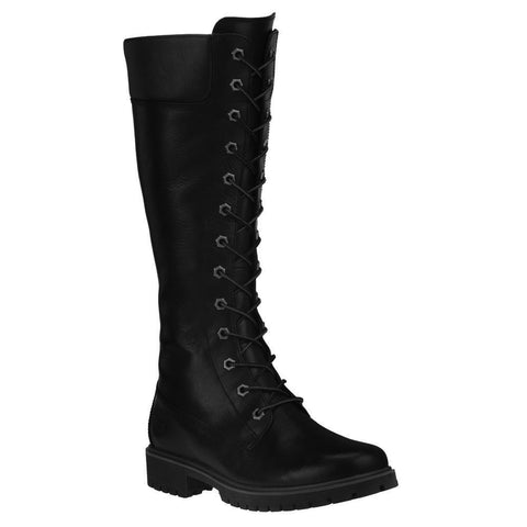 Timberland Women's Premium 14-Inch Size Zip Lace Boots Black 8632A