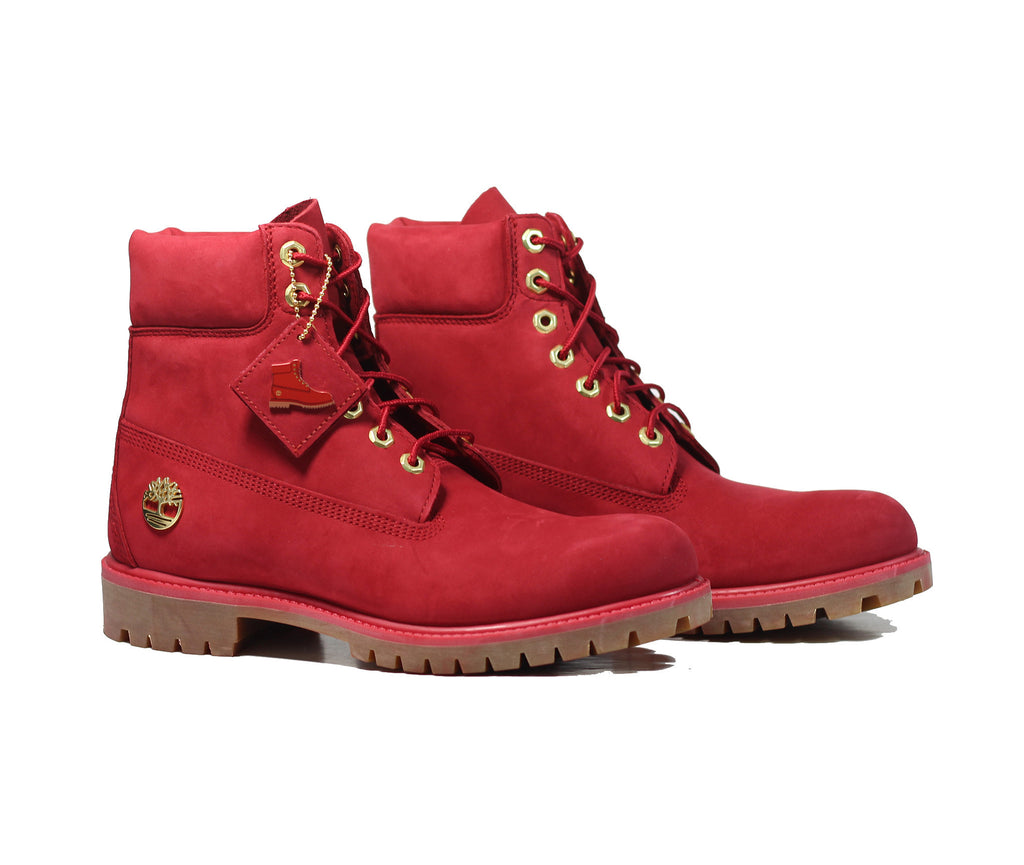 Timberland Men's Fire Red 6-Inch Premium Waterproof Boots TB0A1JLT