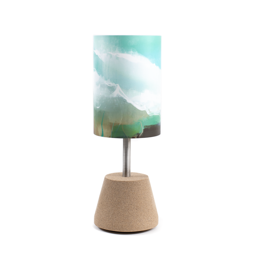 Lampe turquoise