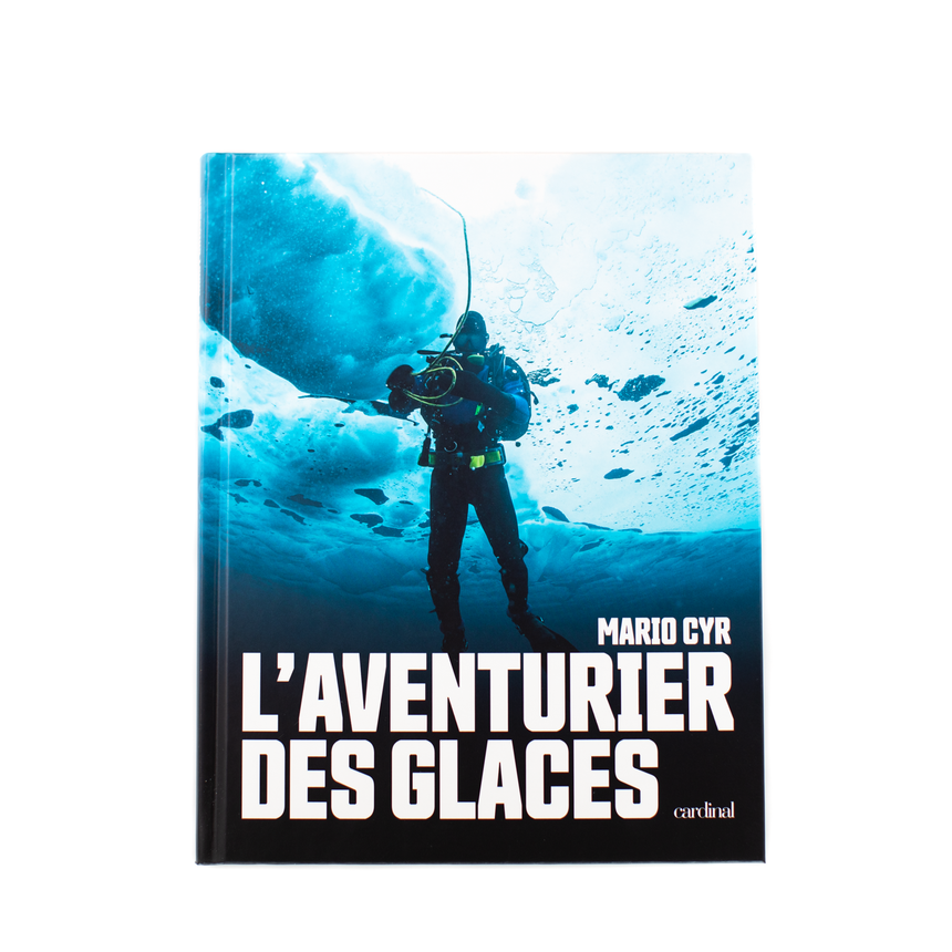 Livre, Mario Cyr, aventure, photo sous-marine, océan, mer, animaux, faune aquatique, plongée sous-marine, Îles de la Madeleine, Magdalen Islands,  sea, diving,  photographs, book