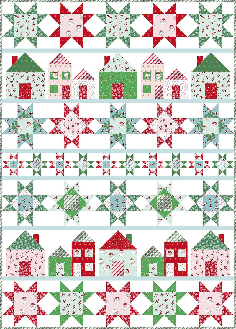 Let's Stay Home Quilt Pattern | Printed Pattern