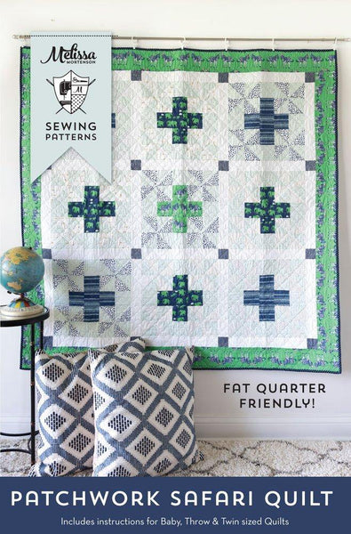 Patchwork Safari Quilt Printed Pattern