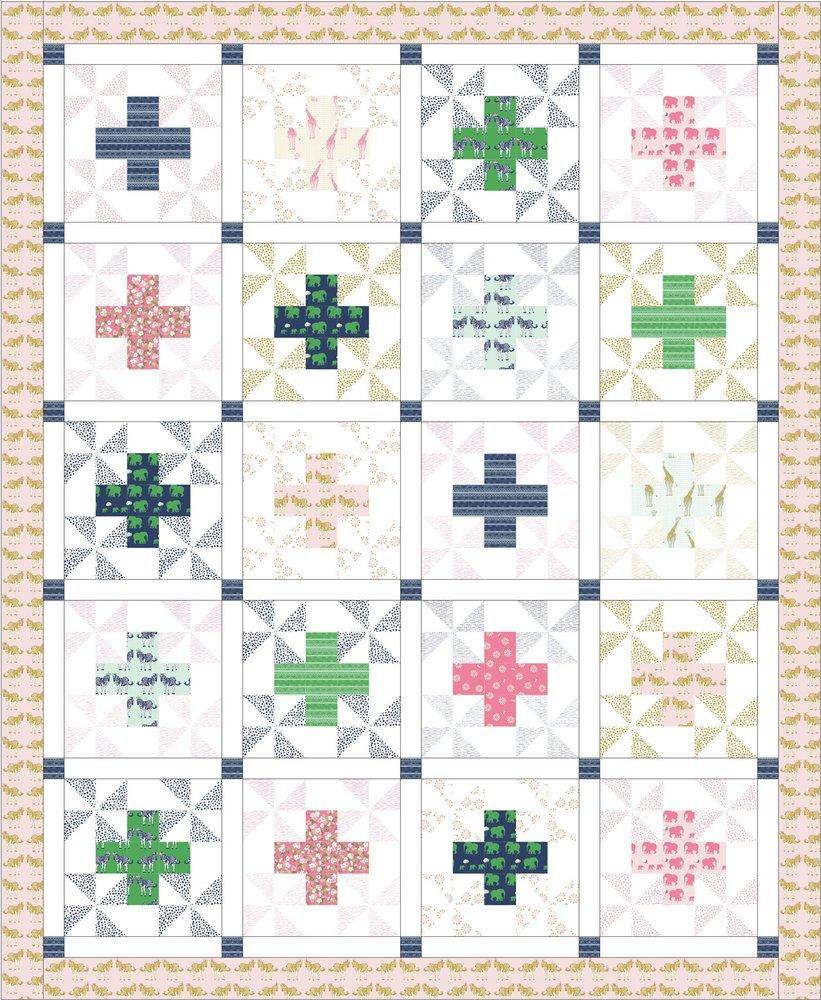 Patchwork Safari Quilt Pattern | Printed Pattern