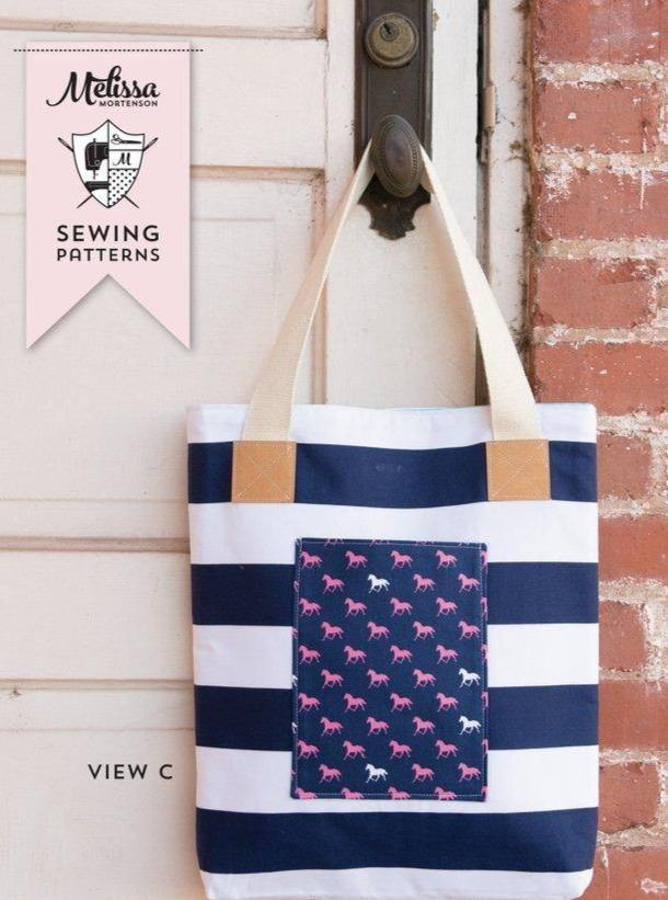The Derby Tote Bag Sewing Pattern | Digital PDF Pattern