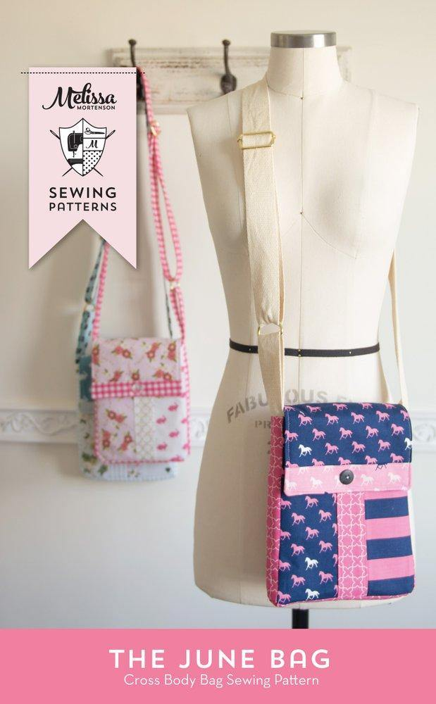 June Bag, Mini Messenger Bag Sewing Pattern PDF – Polka Dot Chair