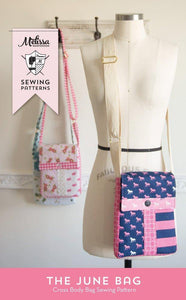 June Bag, Mini Messenger Bag Sewing Pattern PDF