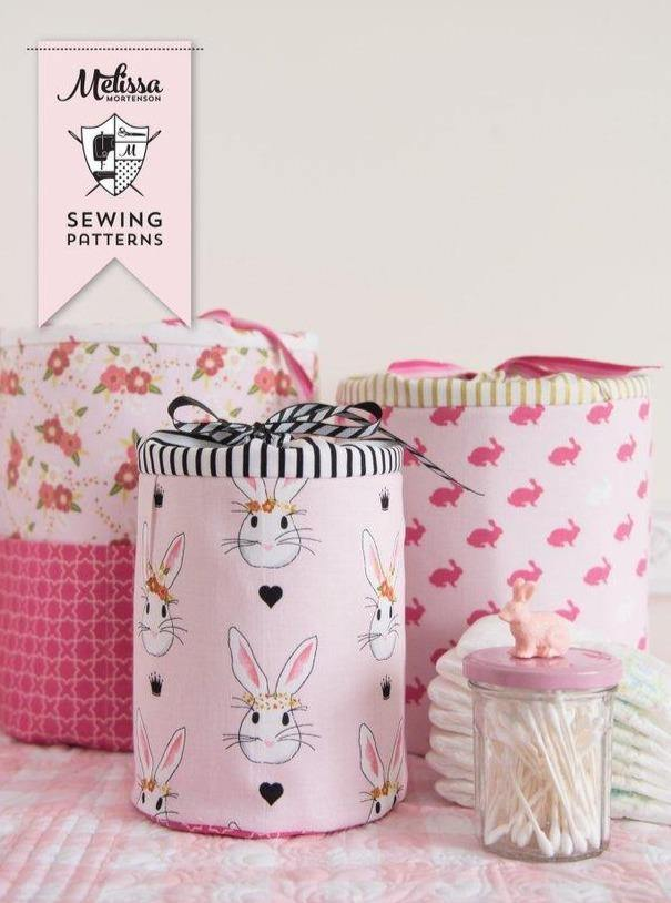 Padded Storage Bins Sewing Pattern | Digital PDF Pattern