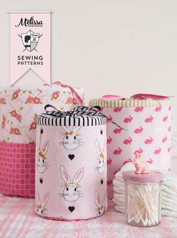 Padded Storage Bins; Sewing Pattern PDF