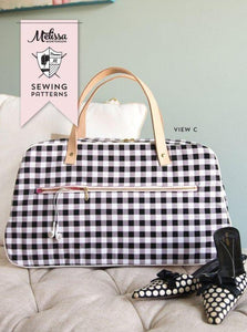Retro Travel Bag Sewing Pattern PDF