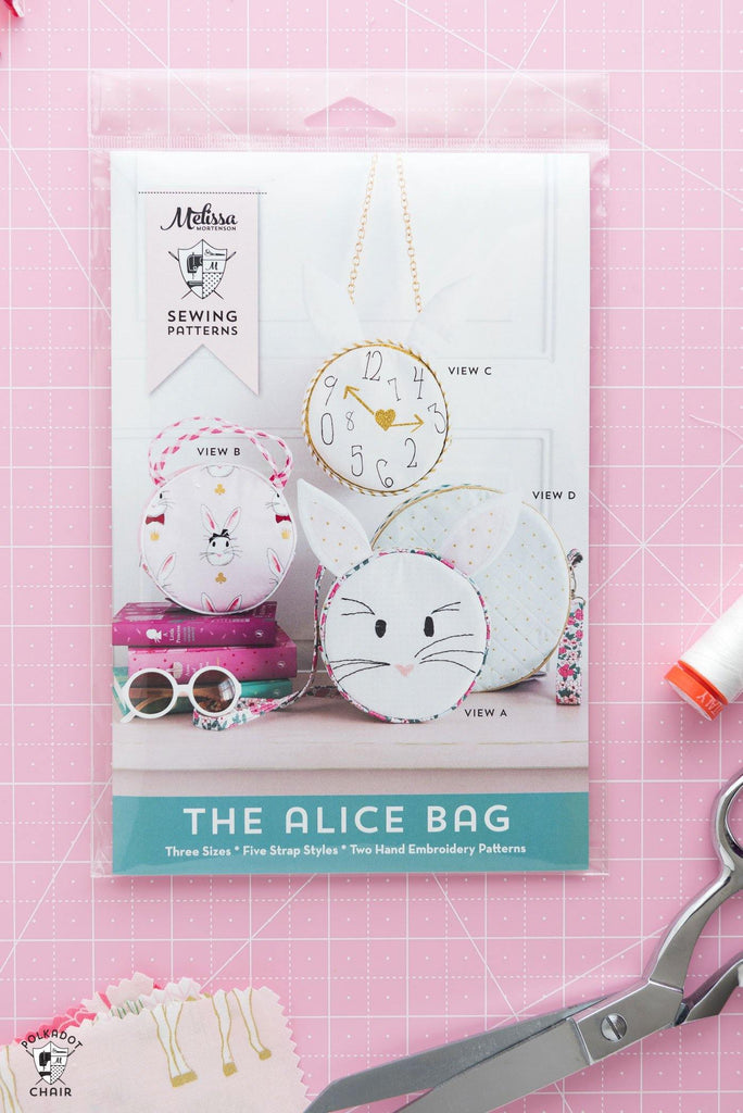 Alice Bag Circle Purse Sewing Pattern | Printed Pattern