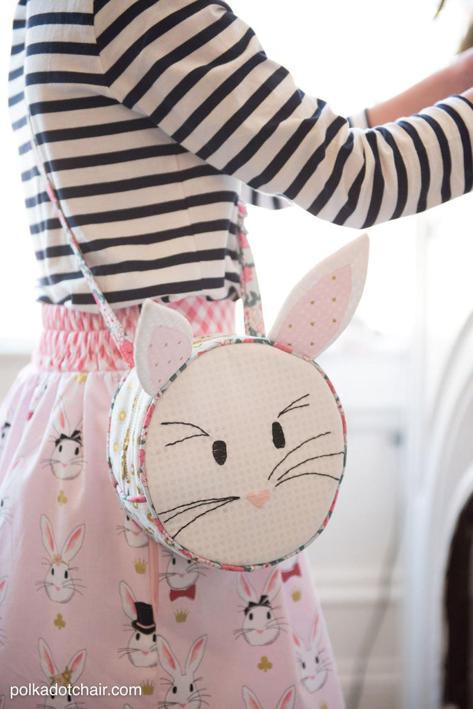 Alice Bag Round Purse Sewing Pattern | Printed Pattern