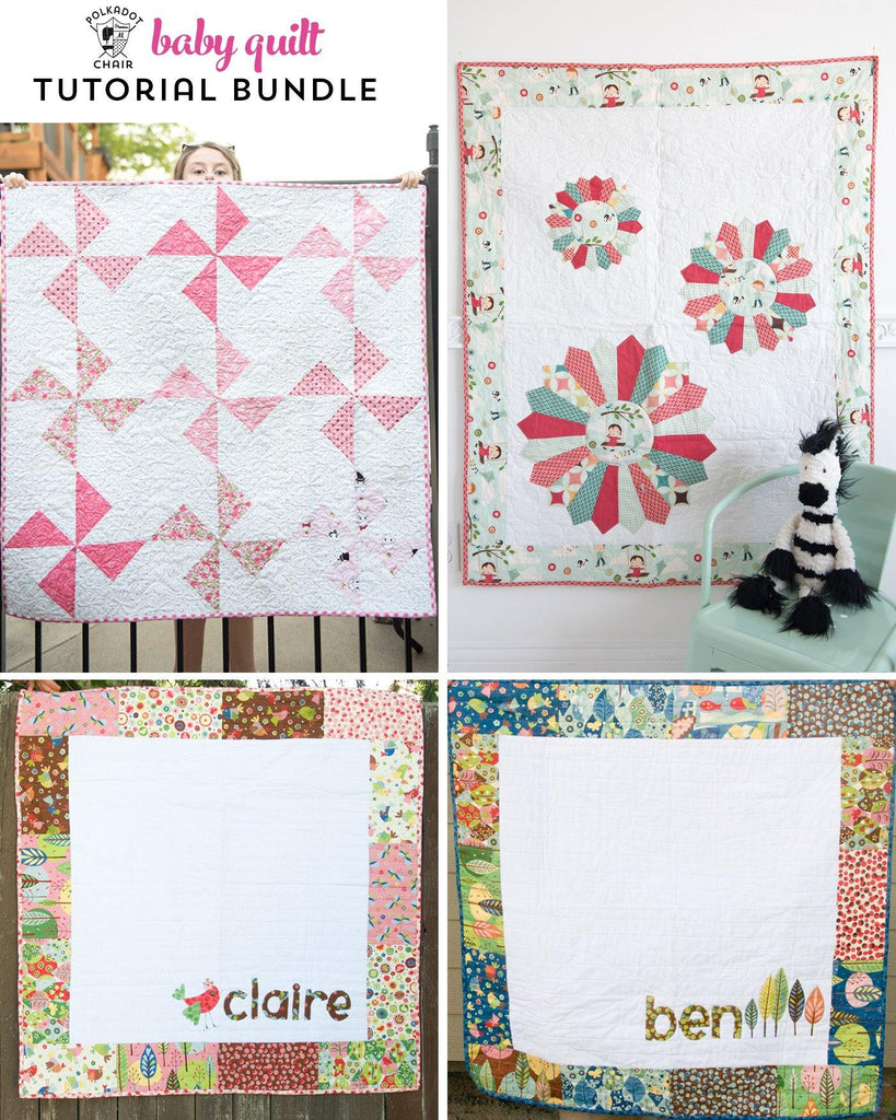 Baby Quilt Tutorial Bundle - 3 Baby Quilt Patterns - Digital PDF Pattern