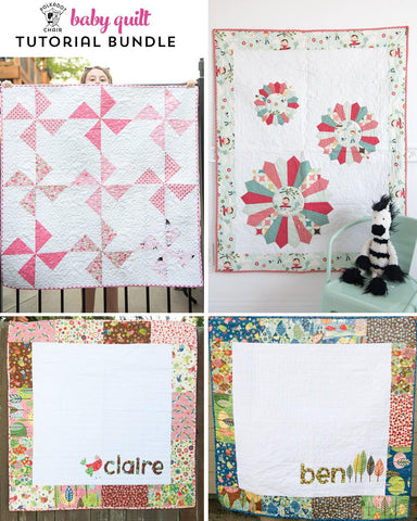 Baby Quilt PDF Tutorial Bundle with 3 Baby Quilt Patterns