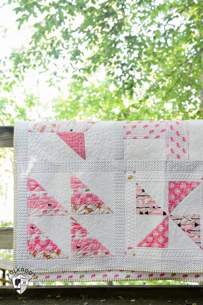 Polka Dot Chair Block of Month Quilt - PDF