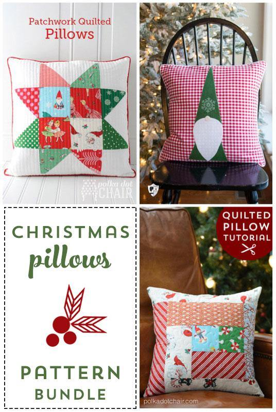 Christmas Pillows Pattern Bundle | Digital PDF Pattern - Polka Dot Chair Patterns by Melissa Mortenson