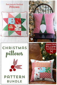 Christmas Pillow Tutorial Pattern Bundle