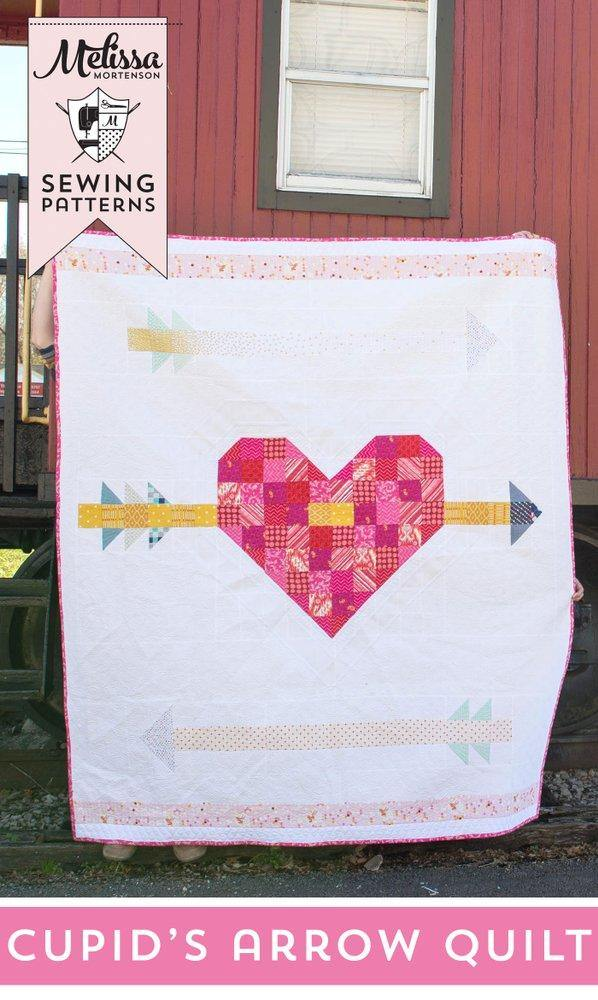 Valentine's Day Cupid's Arrow Quilt Pattern PDF