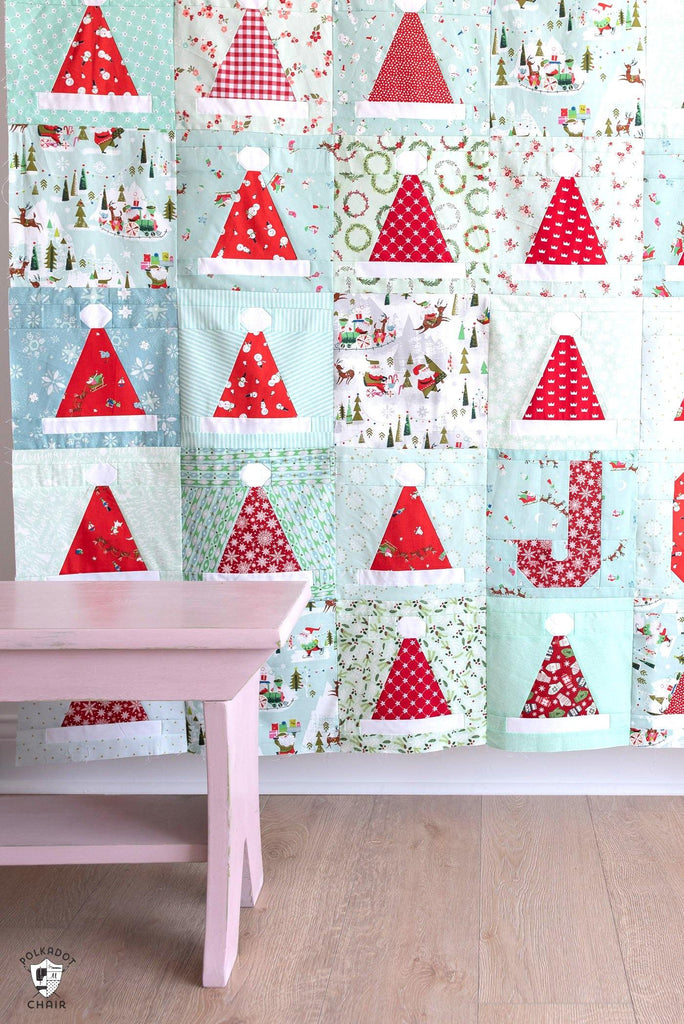 Santa's Hat Shop Quilt Pattern | Digital PDF Pattern
