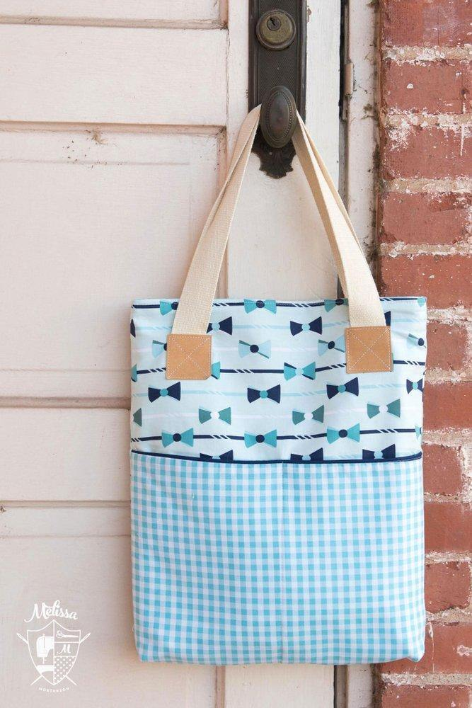 The Derby Tote; Bag Sewing Pattern PDF – Polka Dot Chair