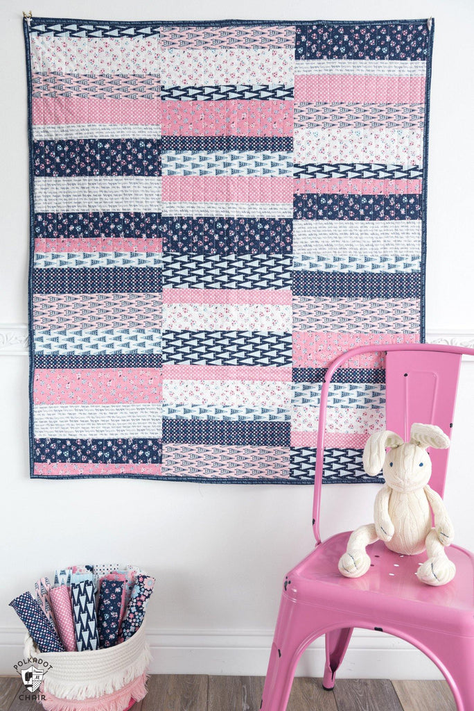 Scrappy Strips Quilt Pattern | Digital PDF Pattern