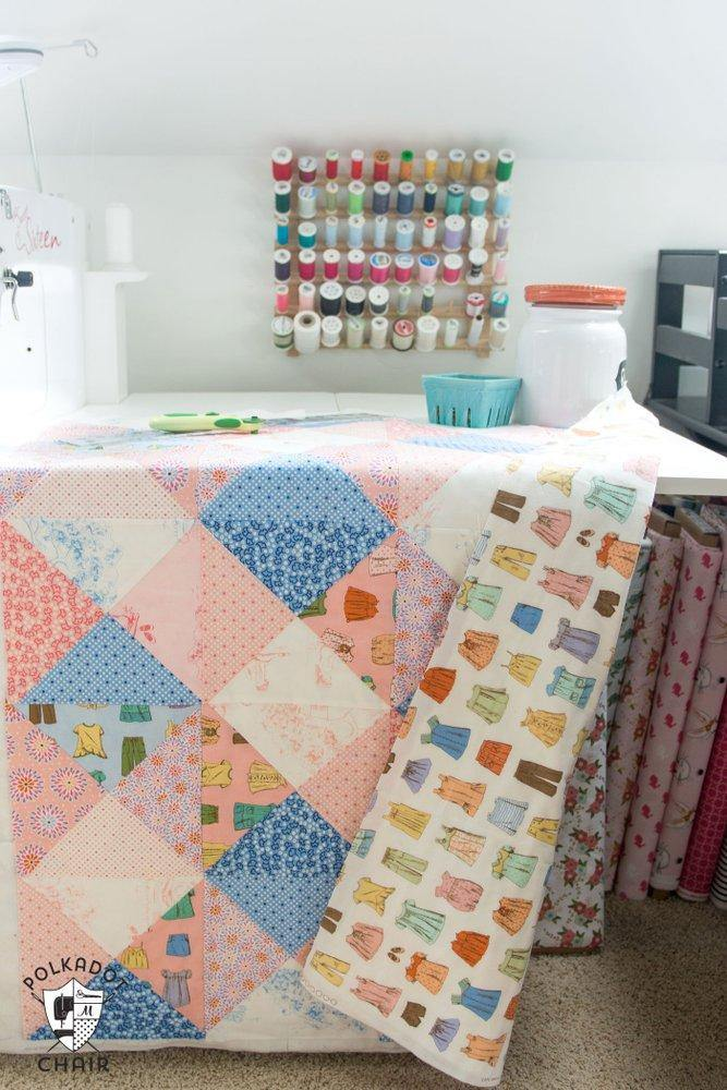 quilt dsc baby green of gingham shades