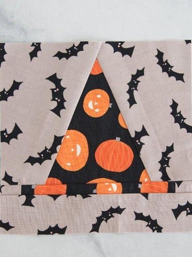 Witch Hat Quilt Block Foundation Paper Piecing Pattern for Quilt | Digital PDF