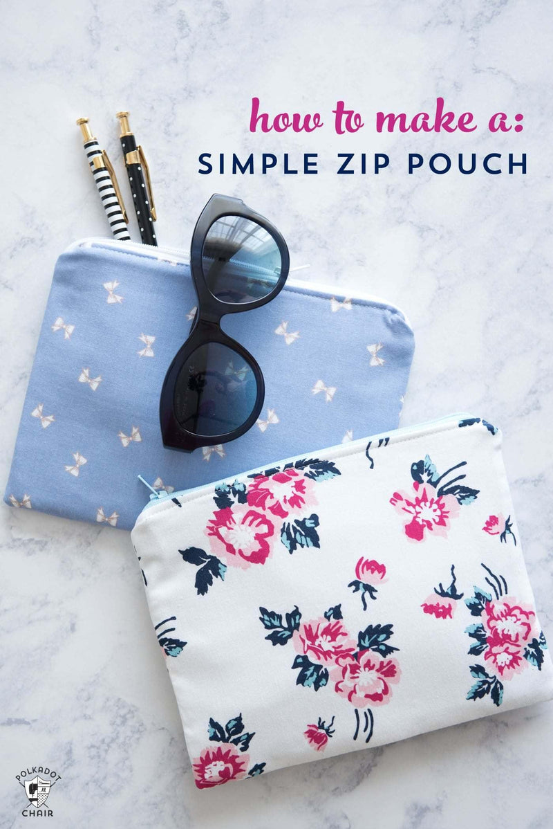 Zippered Pouch Sewing Pattern | Digital PDF Pattern