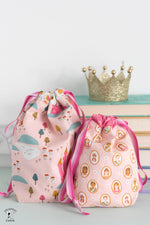 Reversible Lined Drawstring Bag Pattern in 6 Sizes | Digital PDF