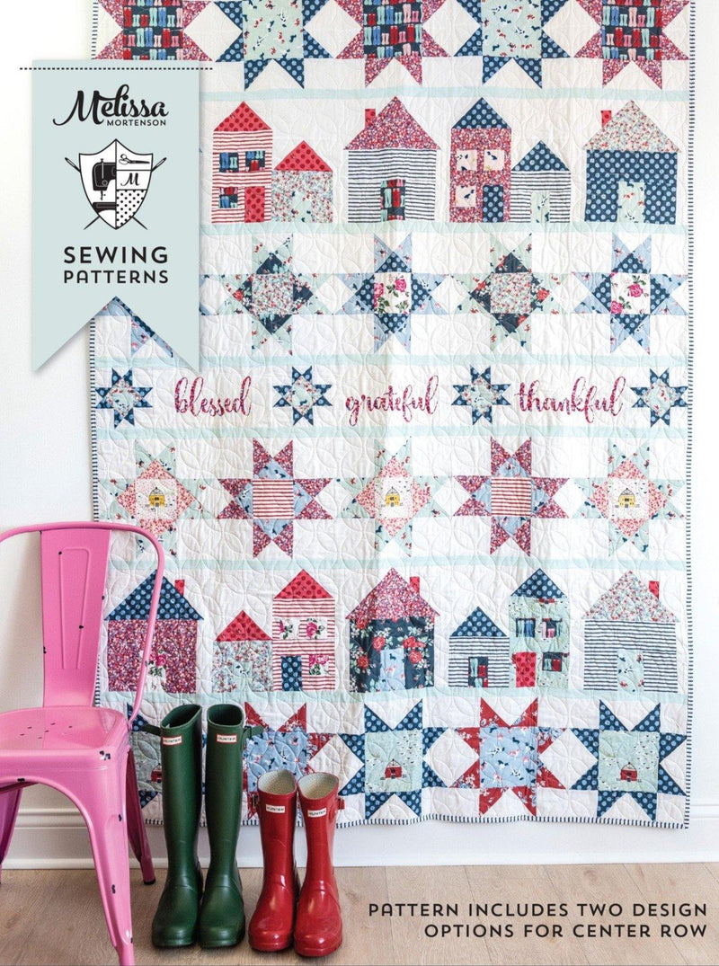 Let's Stay Home Quilt Pattern | Digital PDF Pattern